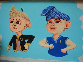 Pelukis mural shah alam kartun upin ipin the geng for Mural kartun