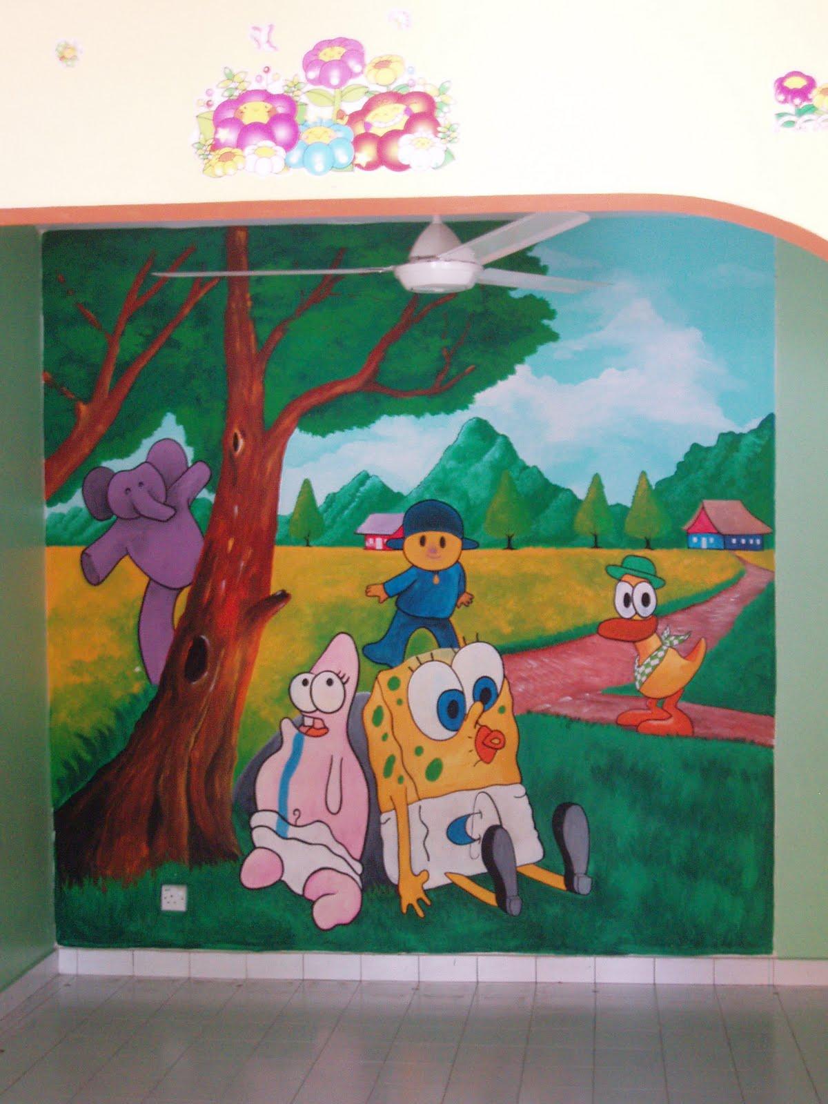 Design lukisan dinding joy studio design gallery best for Mural tadika