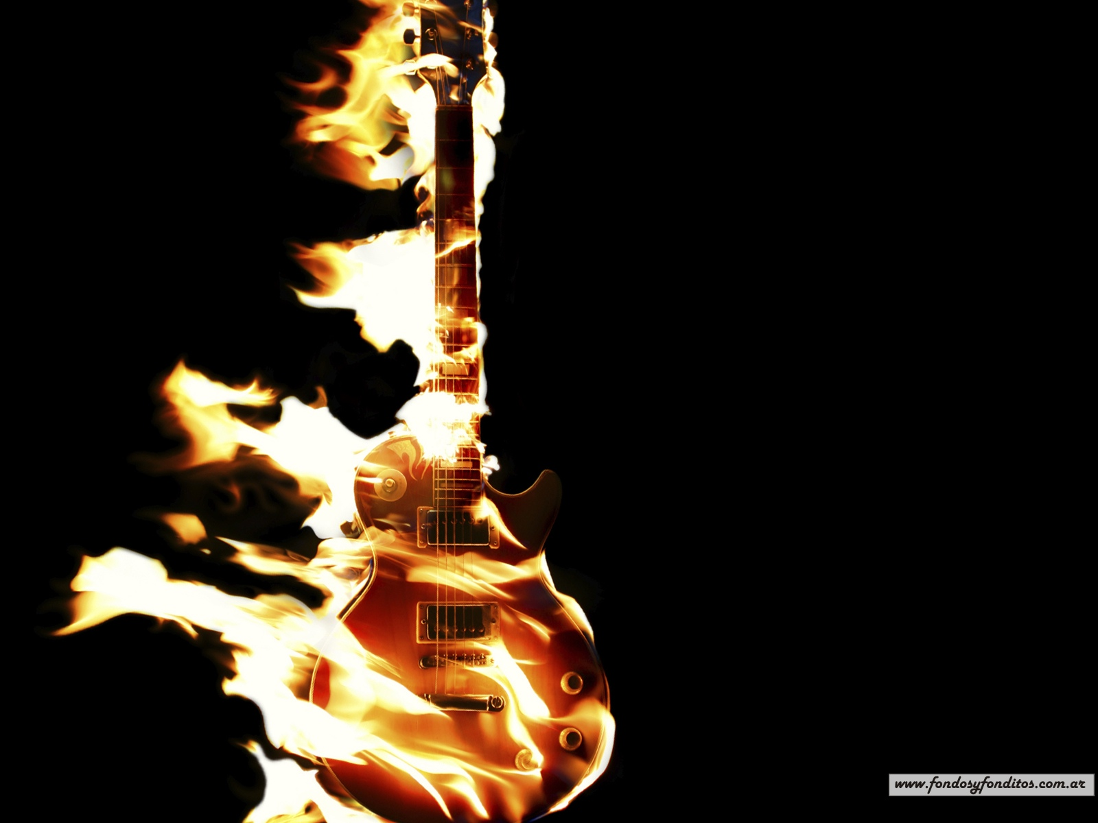 Wallpaper Gibson Les Paul Guitar