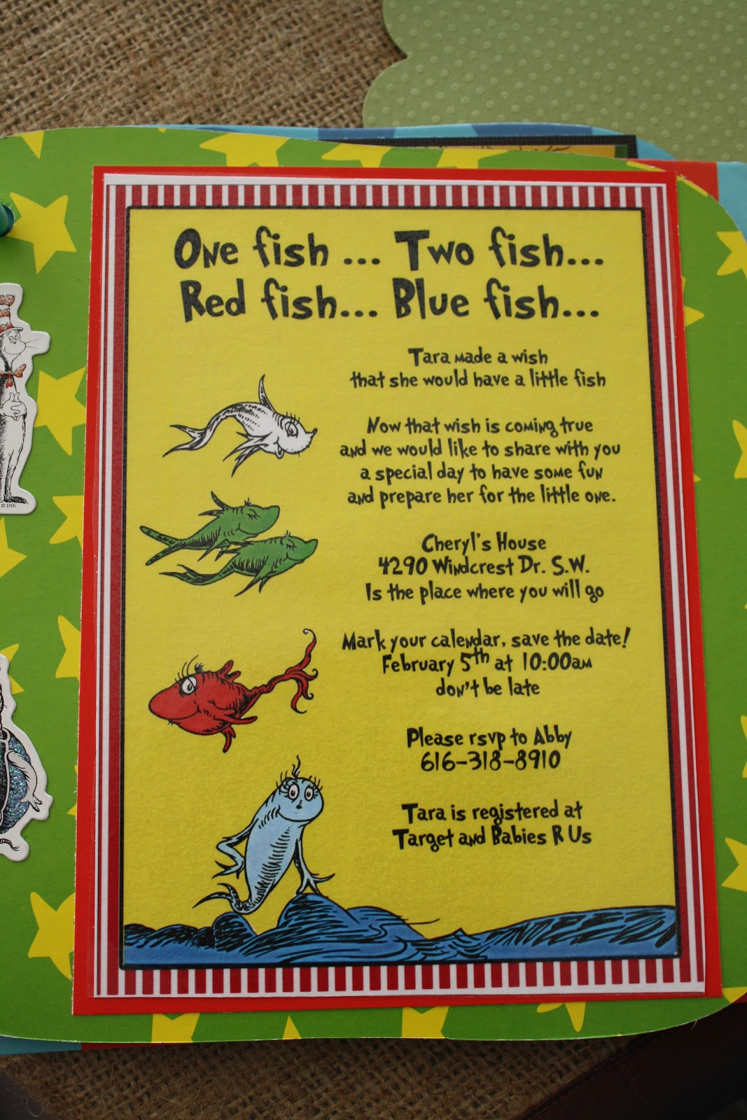 Dr seuss quotes food quotesgram for One fish two fish menu