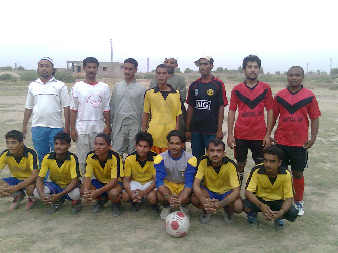 BRAZIL F.C Group Photo With Cheif Guest Abdul Rashid Baloch