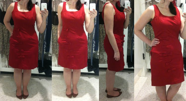 Had I Known The Cascading Bow Dress 118 Was A Sheath Probably Would Have Just Skipped It But Red And Bows Pockets