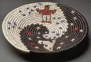 Peggy Black -- Navajo Basket -- Placing the Stars
