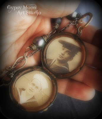 vintage assemblage locket