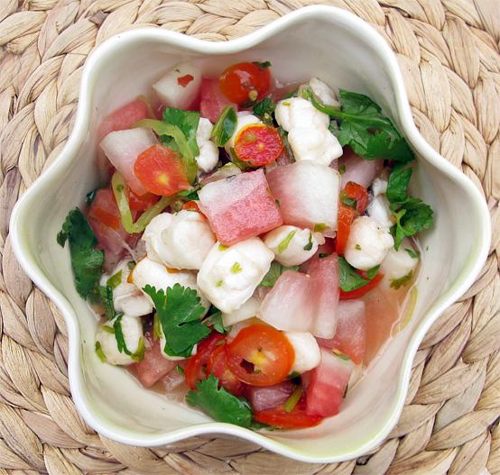 Watermelon and Scallop Ceviche