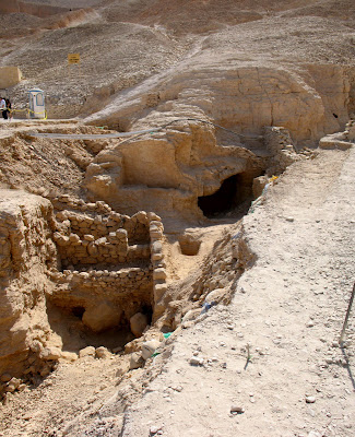 Excavations in the Valley of the Kings by Tomb KV-63