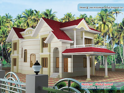 Beautiful House Design By Abdul Samad, Kasaragod - Kerala home .