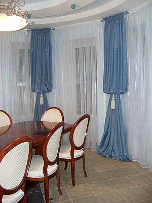 Dining room curtains 09 photos for Dining room curtain ideas