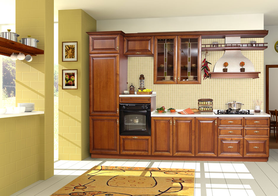 Kitchen cabinet designs 13 photos kerala home design for Design kitchen cabinets online