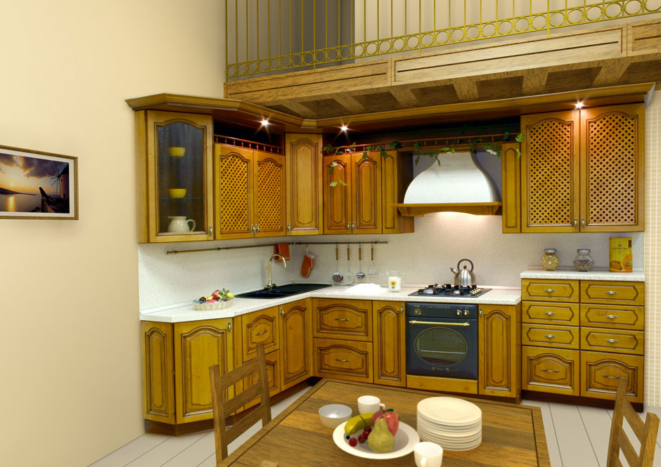 Kitchen cabinet designs 13 photos kerala home design and floor plans Wooden house kitchen design