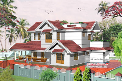 Kerala Villa elevation - 2367 square feet