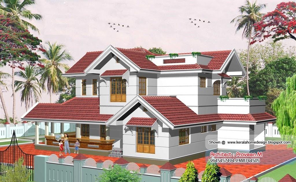 Kerala Villa Elevation 2367 Homedesignpictures