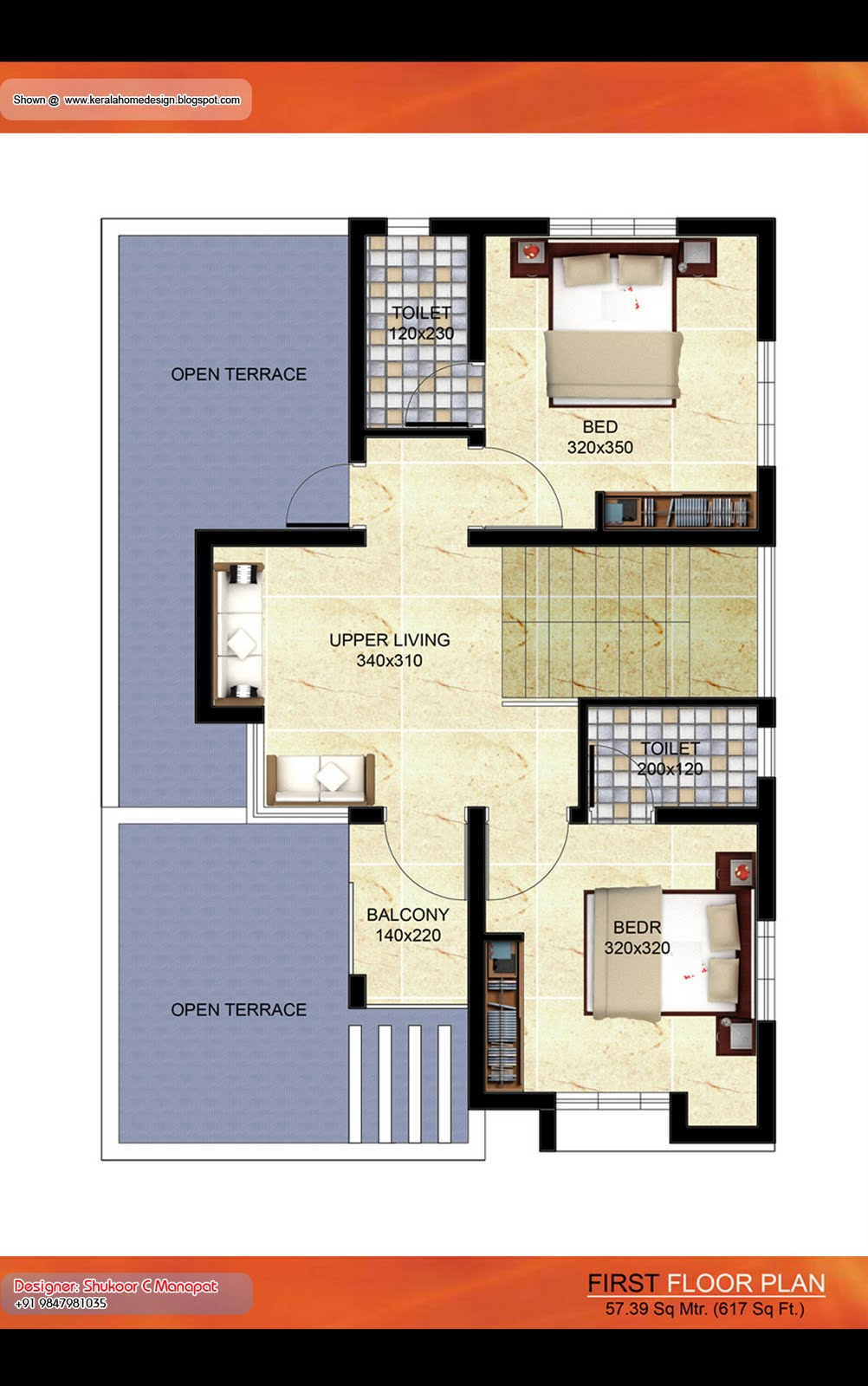 Kerala Villa Plan - 1500 Sq. Ft | Architecture house plans