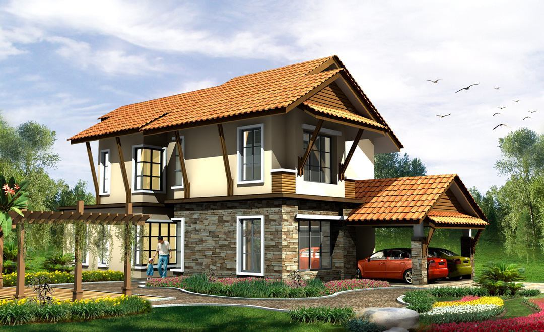 30x40 single floor house elevation joy studio design for Single house elevation