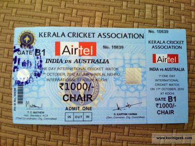 Kochi One Day International Cricket Ticket
