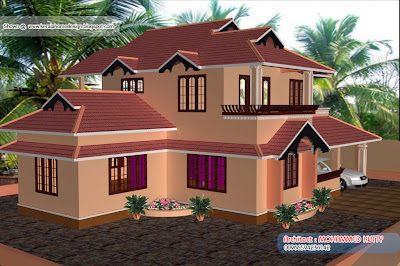Home plan and elevation - 2085 Square Feet