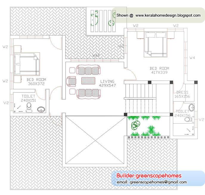 Villa Elevation Plan : Beautiful kerala villa elevation home design and