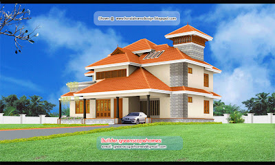 kerala villa elevations