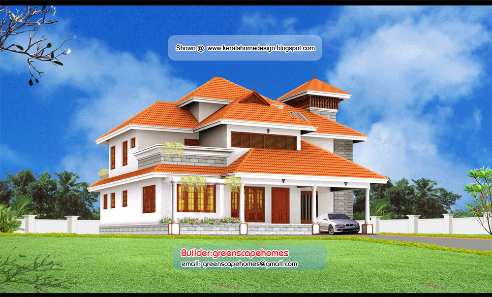 Beautiful Kerala Villa Elevation - Kerala home design and floor plans