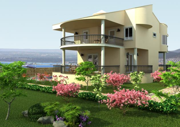 Kerala home design and floor plans some unique villa designs for Unique house plans