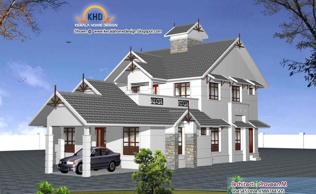 Some kerala style sweet home 3d designs kerala home for Home sweet home designs