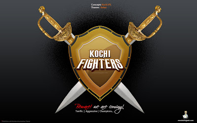 Kochi Fighters (Kalaripayattu): another Concept logo for Kochi IPL Team