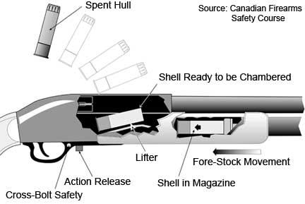 firearms history technology development actions pump action rh firearmshistory blogspot com pump action shotgun instructions Pump Action Shotgun Nomenclature