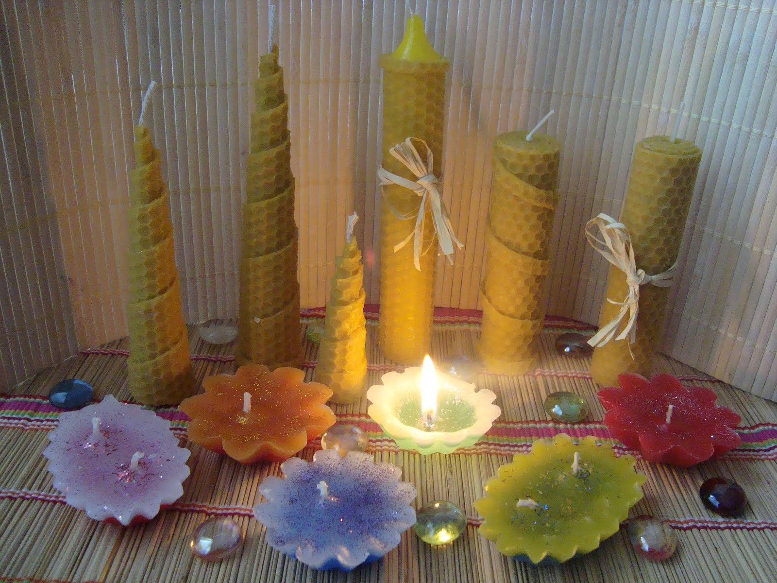 Nanymar artesania con magia - Velas de miel ...