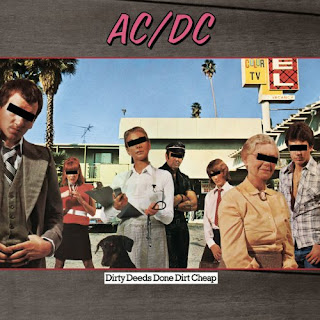 AC/DC - Dirty Deeds Dones Dirt Cheap album cover