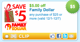 picture regarding Family Dollar Printable Coupon identify Fresh Family members Greenback $5/25 Printable Coupon