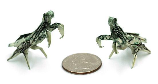 Lyrical Woodshedding One Dollar Bill Origami By Won Park