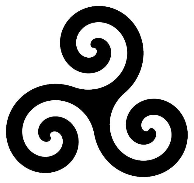 Celtic Spiral or Triskele,used by Celtic Reconstructionists