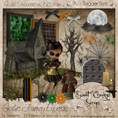 "Scrapbook Freebie ""Gothic Journey Express"" by sweetcravingsscraps"