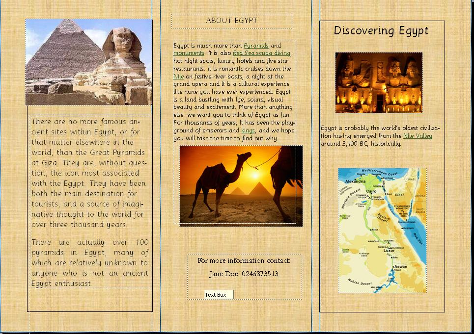 Amy39s blog week 2 for Ancient egypt brochure