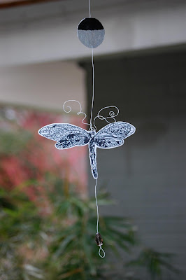 dragonfly,original,spinning,mobile,hanging