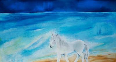 cumberland island,art,painting,beach,horse,print