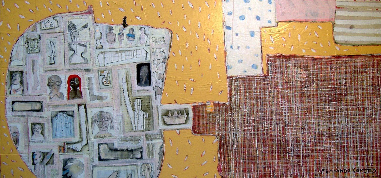 tableaux de fernando cometto amaneciendo 192x91 collage papier et toile huile s bois. Black Bedroom Furniture Sets. Home Design Ideas