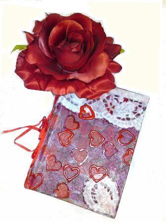 Tagebuch mit vielen Herzen