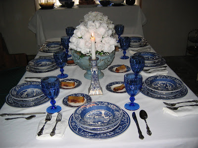 Family Table setting at home