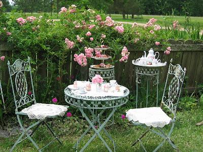 My Pink Rose Garden Tea And Fifi S Painting Tea With