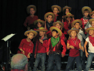 the first grade class singing a song