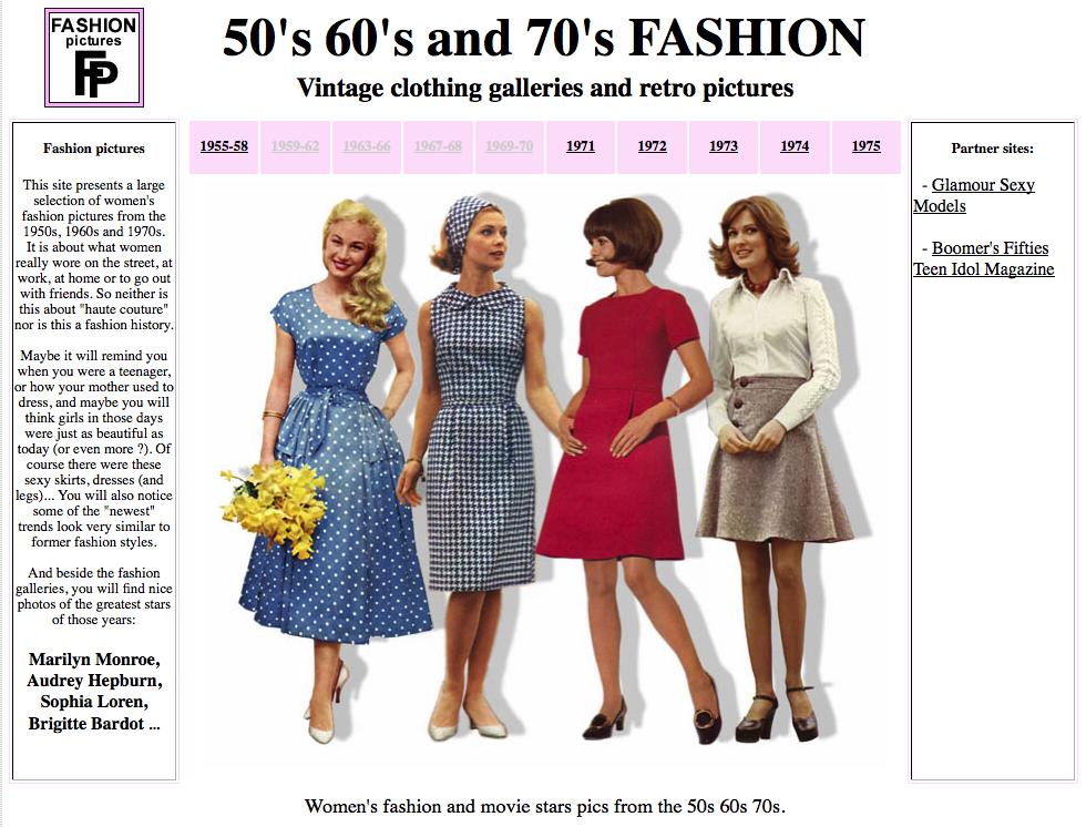 Moda vintage fotos e imagenes de la moda de los años 60s