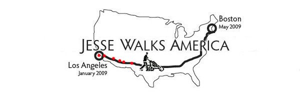 Jesse Walks America 2 coasts....1 HOPE