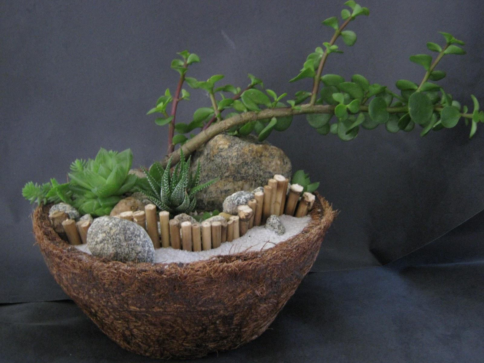 mini jardins em vidro:Claudio Lourenço Paisagismo: Mini-Jardins de Suculentas em Jarro de
