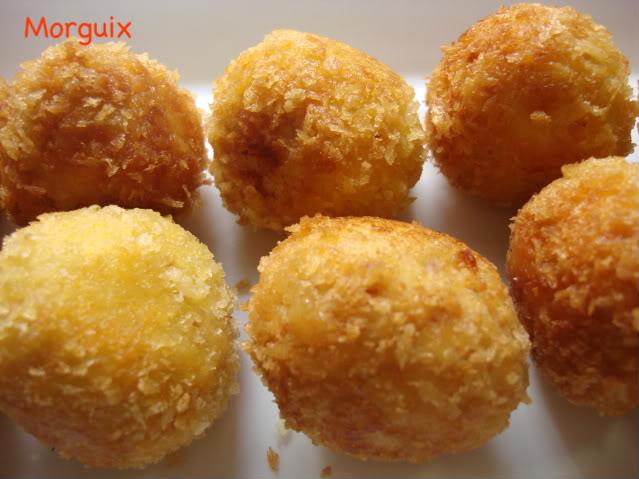 bolitas de pollo queso y jamn