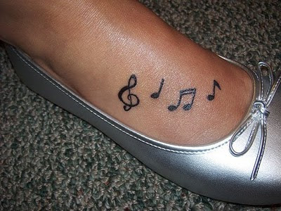 music heart tattoo. Music Heart Tattoo Ideas.