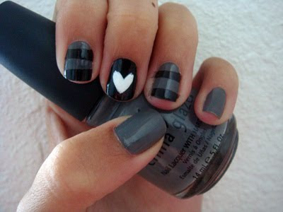 Nail Art Designs Simple Nail Designs With Black Colour