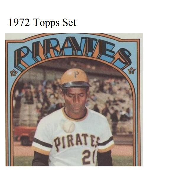 1972 Topps Baseball
