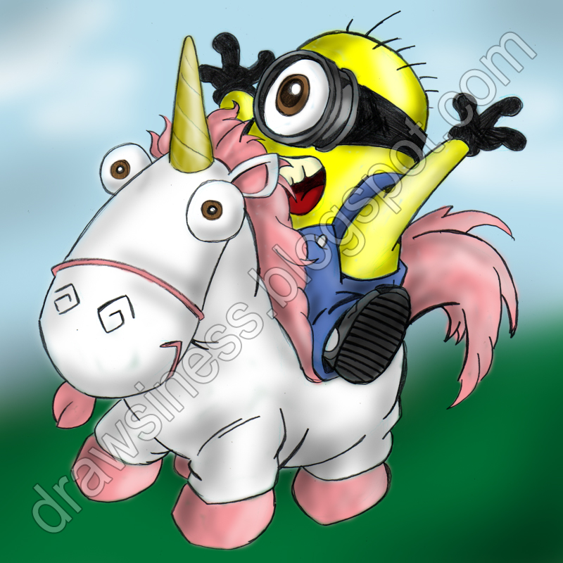 cartoon unicorn from despicable meDespicable Me Unicorn Drawing