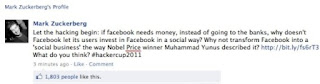 Mark Zuckerberg, Hacker Message